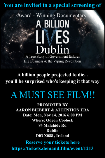 A billion people projected to die - A must see film for smokers and their loved ones