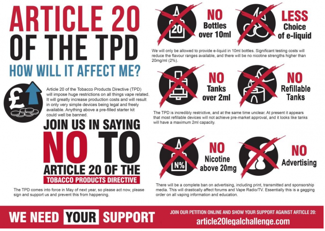 TPD (Tobacco Products Directive) What it means to Vapers.
